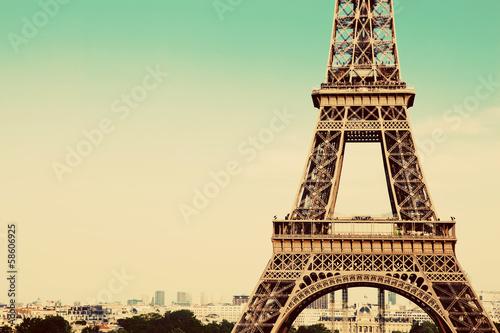 Eiffel Tower section, Paris, France - 58606925
