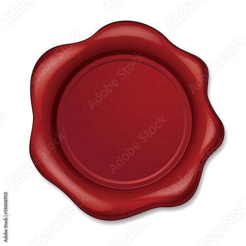 Blank Vector Wax Seal with space for text