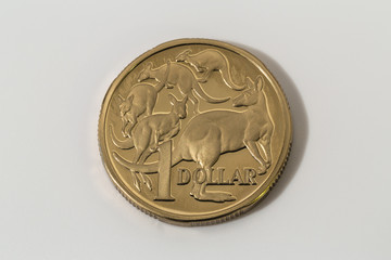 One of the first Australian Dollar coins