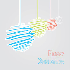 Vector hand-draw christmast background. unconvetional christmas