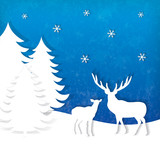 Stylish holiday reindeer design