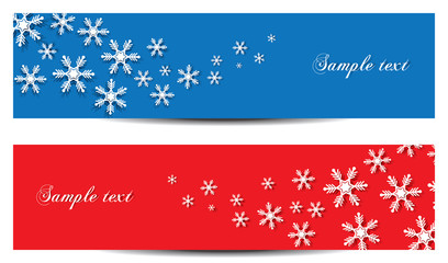 Abstract snowflakes banner design