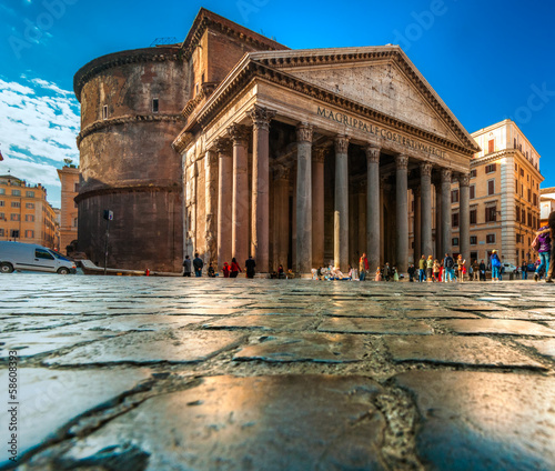 Canvas Rome The Pantheon, Rome, Italy.