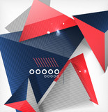 Abstract geometric shape background