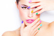 canvas print picture - colorful makeup