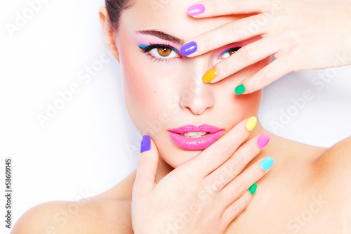 colorful makeup - 58609145