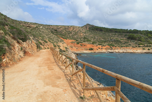 A view of way near the seaside near Levanzo, Sicily, Italy