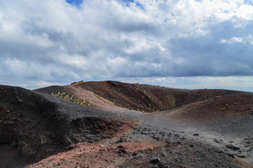 A view of a volcanic crater - Etna, Sicily