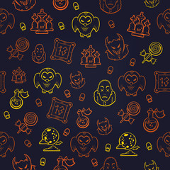 Halloween seamless background. Vector illustration