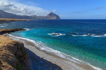 Zingaro Natinal Park - a view of a bay, Sicily, Italy