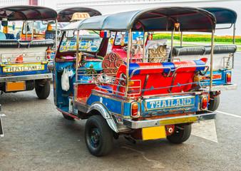 """Thailand native taxi call """"tuk-tuk"""", Bangkok."""