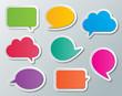 paper speech bubbles - 58610516