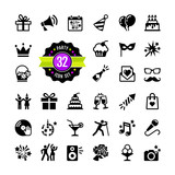 Web icon set Party, Birthday, celebration