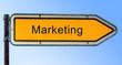 Strassenschild 6 - Marketing