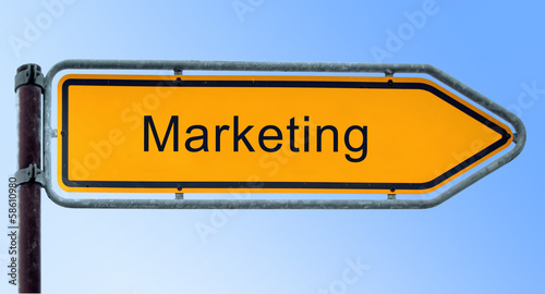 Strassenschild 6 - Marketing