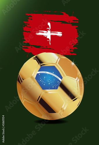 Switzerland in Soccer WM Brazil 2014