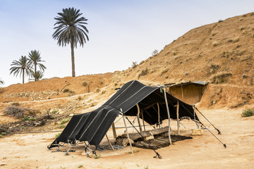The Berber tent in the Sahara desert, Tunisia, Africa