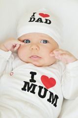 with love to mum and dad