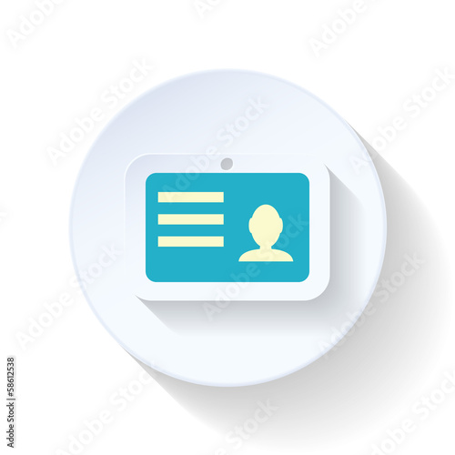 Employee badge flat icon