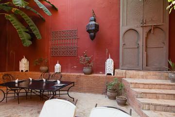 cour interieur d'un riad marocain
