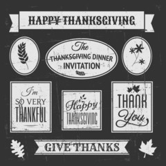 Chalkboard Thanksgiving Design Elements