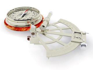 Kompass und Sextant
