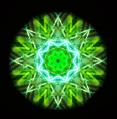 Kaleidoscope green