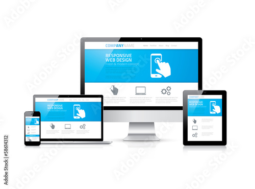 Web design in modern electronic devices. Responsive and clean.