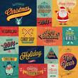 Christmas set - emblems, decorative elements.