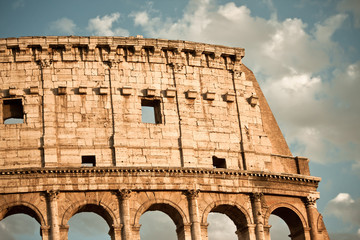 Colosseum in rome detail