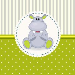 little hippopotamus baby