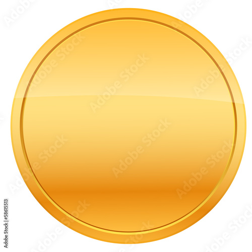 Coin, vector illustration