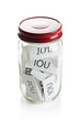 IOU's in a jar