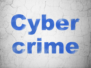 Security concept: Cyber Crime on wall background