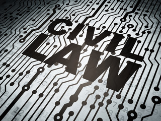 Law concept: circuit board with Civil Law