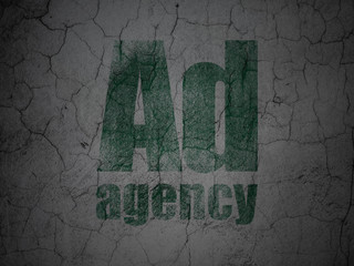 Advertising concept: Ad Agency on grunge wall background