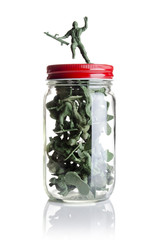 Soldiers in a jar