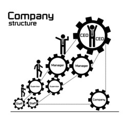 Company teamwork for business development concept