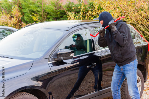 Poster Car burglar in action