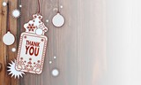 xmas coupon with thank you sign