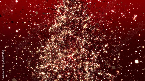 Movement of particles - Christmas tree.