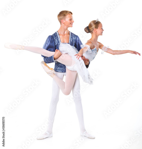 Couple of ballet dancers posing
