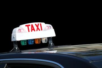 Enseigne lumineuse d'un taxi  ' occupé '