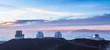 Four observatoriesat sunset, Hawaii