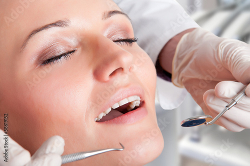 Close-Up of a Dentist at Work
