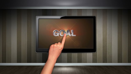 Goal Text in Monitor
