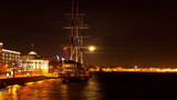 Sailing ship. St. Petersburg. Russia. Time-lapse