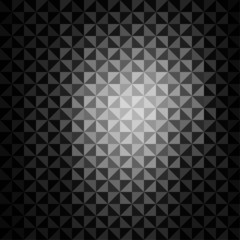 creative triangle pattern in black background vector