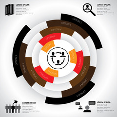 company, manpower, employment & job related infographics vector