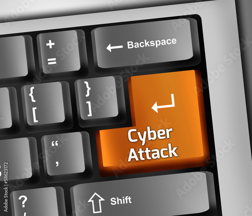 "Keyboard Illustration ""Cyber Attack"""